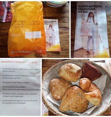 Gratis Brötchen und mehr liefern lassen vom Morgengold Frühstücksservice