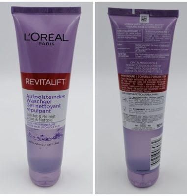 L'ORÉAL PARiS Revitalift Filler [+Hyaluronsäure] Aufpolsterndes Waschgel – Sanfte Reinigung der Haut