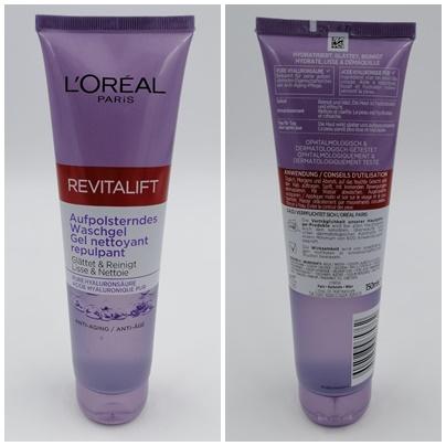 L'ORÉAL PARiS Revitalift Filler [+Hyaluronsäure] Aufpolsterndes Waschgel - Sanfte Reinigung der Haut