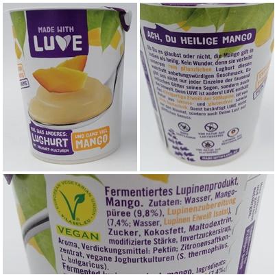 Made with Luve - Veganer Lughurt leider mit zu viel Zucker