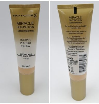Max Factor Miracle Touch Second Skin Foundation – Foundation ohne Maskeneffekt