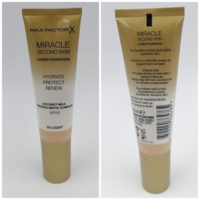 Max Factor Miracle Touch Second Skin Foundation - Foundation ohne Maskeneffekt