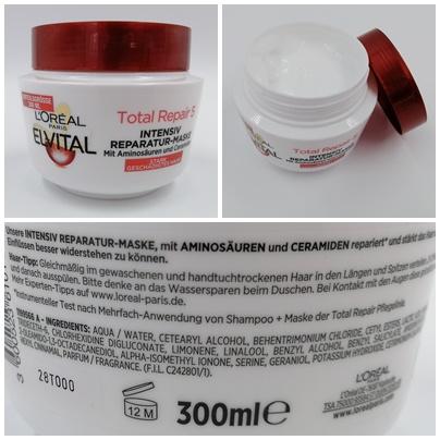 geschädigtes Haar, L'Oréal PARiS, Elvital, Total Repair 5 Intensiv Reparatur-Maske, Hilfe für geschädigtes Haar