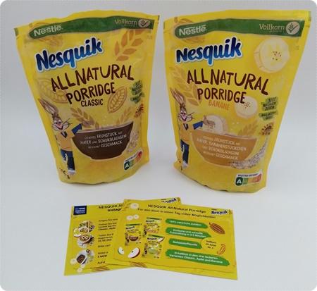 NESQUIK All Natural Porridge - Ein süßes und trotzdem gesünderes Frühstück