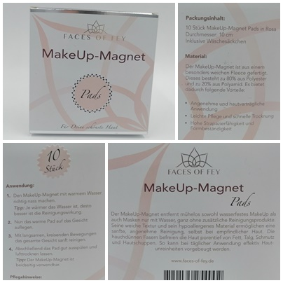Waschbare Abschminkpads für eine ökologische, effektive Reinigung - Make-Up-Magneten von FACES OF FEY