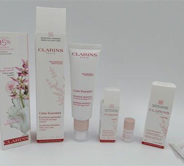 Calm-Essentiel Pflegelinie von CLARINS für sensible Haut – Lasse deine Haut aufatmen