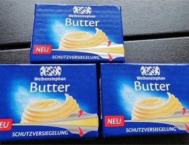 Verpackung mit Schutzversiegelung – Nie wieder fettige Finger dank der Weihenstephan Butter