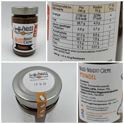 Laktose- und palmölfreie Nuss-Nougat-Creme - Löffelglück macht es möglich