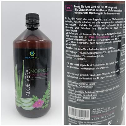 Aloe Vera Direktsaft mit Moringa und Cistus Incanus - So einfach und lecker kann Gesundheit sein