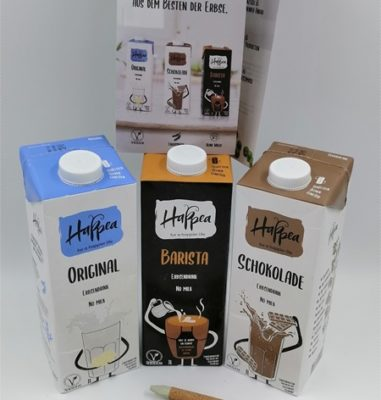 Happea Erbsendrink – Vegane Milch aus Erbsen in drei Sorten