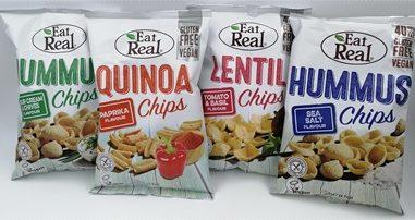 Gesünder Snacken mit den veganen Chips von Eat Real – Leckere Linsen, Hummus und Quinoa Chips