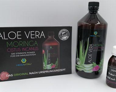 Aloe Vera Direktsaft mit Moringa und Cistus Incanus – So einfach und lecker kann Gesundheit sein