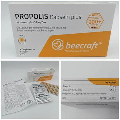 Propolis Produkte von beecraft - Gesundheit aus dem Bienenstock