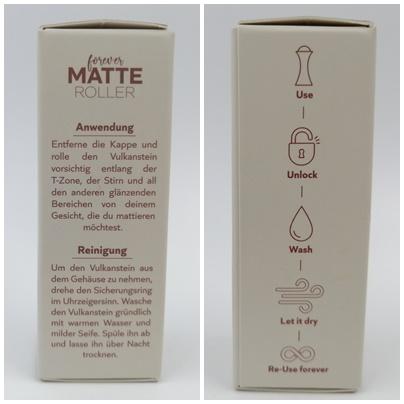 Glänzende Haut sofort mattieren mit dem fioza Forever Matte Roller