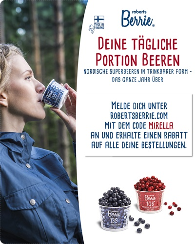 Gesunde Super Foods - Nordische Beeren von Roberts Berrie in trinkbarer Form