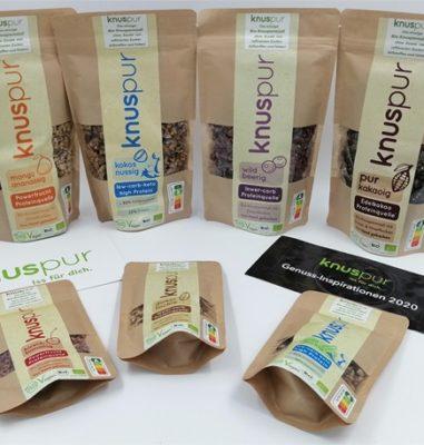 knuspur – Leckeres, gesundes Bio-Knuspermüsli ohne Zusatz von Zucker und Fetten