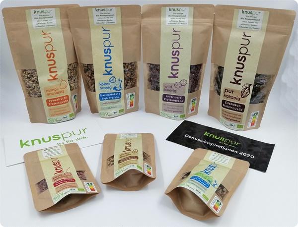 knuspur - Leckeres, gesundes Bio-Knuspermüsli ohne Zusatz von Zucker und Fetten