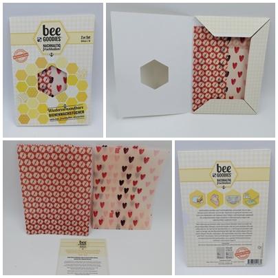 Nachhaltige, wiederverwendbare Bienenwachstücher von beeGoodies