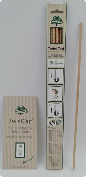 TwistOut - Der nachhaltige Stab gegen verstopfte Abflüsse